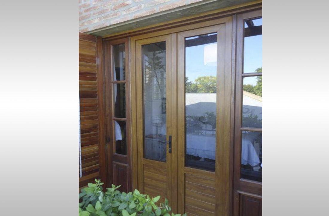 Puertas exterior pvc precios free affordable pa p for Aberturas pvc simil madera precios
